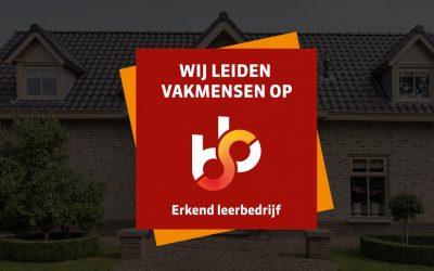 Bouwbedrijf Verkerk nu erkend leerbedrijf
